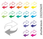 colorful arrow icon set on... | Shutterstock .eps vector #232253635