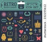 retro design elements hipster... | Shutterstock .eps vector #232255612