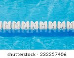 closeup the white marked lanes...   Shutterstock . vector #232257406