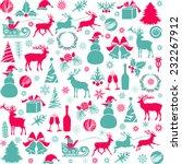christmas decoration | Shutterstock .eps vector #232267912