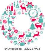 christmas decoration | Shutterstock .eps vector #232267915
