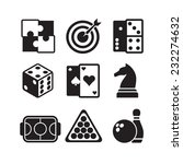 games icons set | Shutterstock .eps vector #232274632