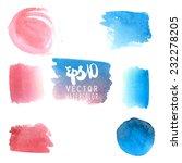 watercolor blotches in vector... | Shutterstock .eps vector #232278205