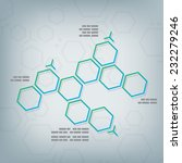 science chemical hexagonal... | Shutterstock .eps vector #232279246