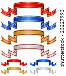 decorative color ribbon banner. ... | Shutterstock .eps vector #23227993