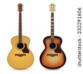 Acoustic Guitars Isolated On ...