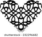 lace heart  black lace  heart ... | Shutterstock .eps vector #232296682
