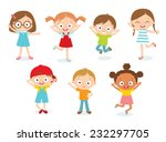 cute kids | Shutterstock .eps vector #232297705