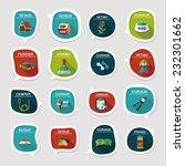 pet bubble speech flat banner... | Shutterstock .eps vector #232301662