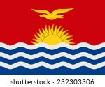 flag of kiribati vector... | Shutterstock .eps vector #232303306
