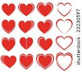 set of vector hearts | Shutterstock .eps vector #23230597