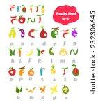 fruit alphabet. vector eps.10 | Shutterstock .eps vector #232306645