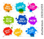 colorful icons   sale blots  ... | Shutterstock . vector #232312555