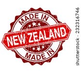 made in new zealand red stamp... | Shutterstock .eps vector #232316746