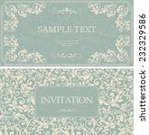set of antique greeting cards ... | Shutterstock .eps vector #232329586