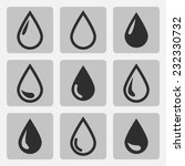 vector drop  black icons on a... | Shutterstock .eps vector #232330732
