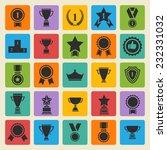 big set of  black vector award... | Shutterstock .eps vector #232331032