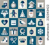 christmas design icons set.... | Shutterstock .eps vector #232343422
