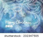 fir branches. hand   drawn... | Shutterstock .eps vector #232347505