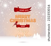 holidays greetings card | Shutterstock .eps vector #232353016