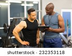 african personal trainer...   Shutterstock . vector #232353118