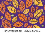 seamless autumn leaves and... | Shutterstock .eps vector #232356412