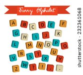 alphabet on a baby cubes vector.... | Shutterstock .eps vector #232361068