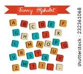 alphabet on a baby cubes vector.... | Shutterstock .eps vector #232361068