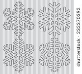 decorative abstract snowflake. | Shutterstock .eps vector #232370392