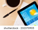 workplace with tablet pc... | Shutterstock . vector #232370905