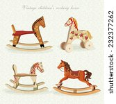 Vector Set With Rocking Horses...