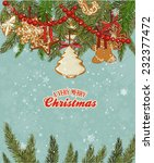 christmas card with christmas... | Shutterstock .eps vector #232377472