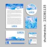 corporate identity business set ... | Shutterstock .eps vector #232381135