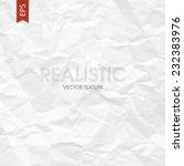 crumpled paper texture. vector | Shutterstock .eps vector #232383976