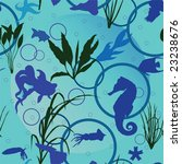 seamless pattern with fish and... | Shutterstock .eps vector #23238676
