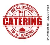 catering grunge rubber stamp on ... | Shutterstock .eps vector #232394485