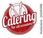 catering grunge rubber stamp on ... | Shutterstock .eps vector #232394488