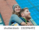 young urban couple during cold... | Shutterstock . vector #232396492