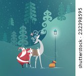 cute santa claus is getting... | Shutterstock .eps vector #232398595