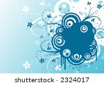 abstract retro floral... | Shutterstock .eps vector #2324017