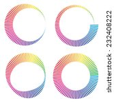 circular color wheels or buffer ... | Shutterstock .eps vector #232408222