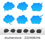 set of speech and thought... | Shutterstock .eps vector #232408246