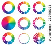 9 different color wheels. | Shutterstock .eps vector #232408336