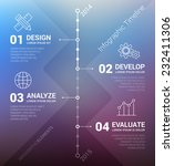 timeline infographic with... | Shutterstock .eps vector #232411306