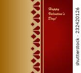 red gold festive valentine's... | Shutterstock .eps vector #232420126