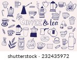 the set of vector icons with... | Shutterstock .eps vector #232435972