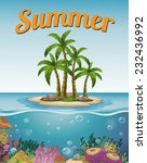 summer postcard with island and ... | Shutterstock .eps vector #232436992