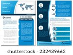 vector brochure  flyer ... | Shutterstock .eps vector #232439662