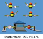 secure checkpoints   Shutterstock . vector #232448176