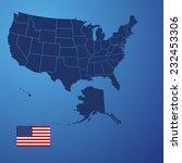 us map cover vector | Shutterstock .eps vector #232453306